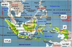 peta letak astronomis Indonesia